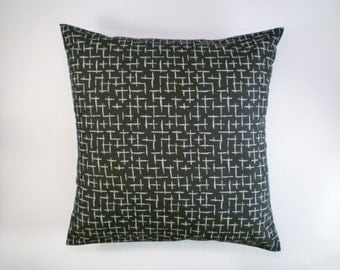 SALE Black & White Decorative Pillow Cover, Throw Pillow, 16x16""