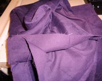 3/4 yard dark purple baby wale cordoroy