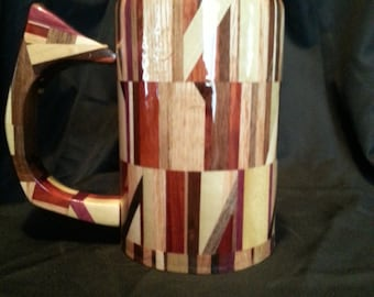 Wood Mug, fully usable and made from scrap wood
