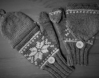Urban Convertable Fingerless Mittens Knitting Pattern