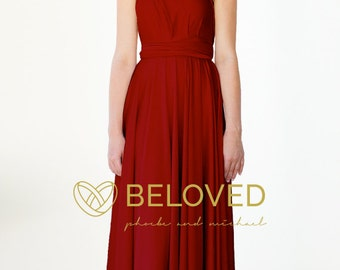 Convertible Infinity Dress Bridesmaid Dress Flame / Rose / Red