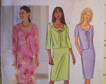 Butterick Pattern #3382 Misses, Women's, Dress, Jacket,  Size 12-14-16