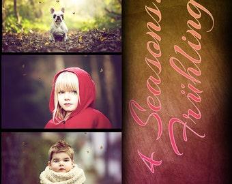 Photoshop set spring / spring - 4 seasons
