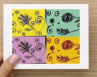Set of 5 - Pop Art Notecards