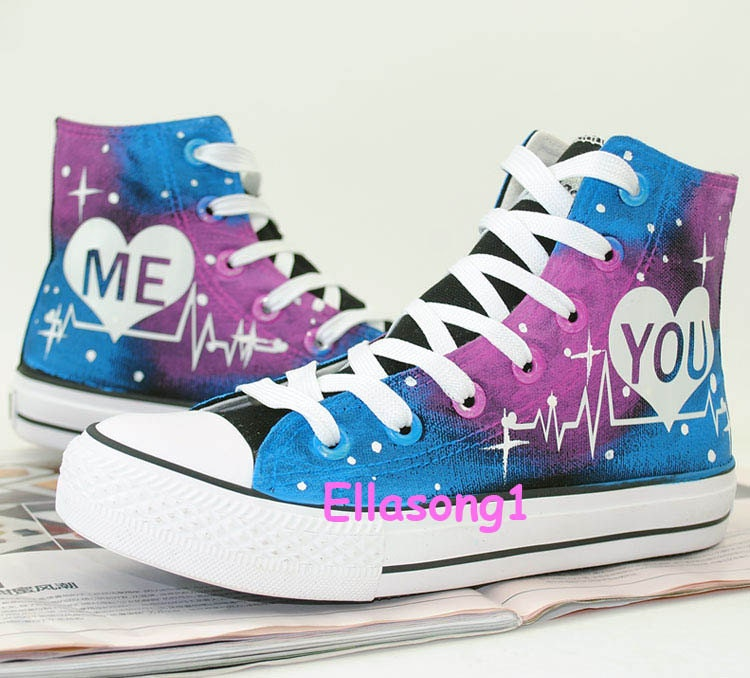 painted galaxy canvas shoes casual painted luminous