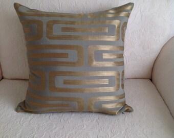 Gold & grey metallic cushion