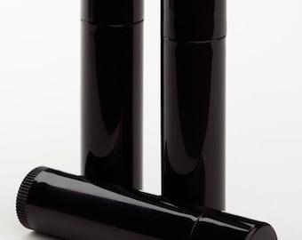 Black Lip Balm Tubes (w/lids) Set of 10