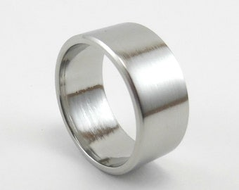 Polished Stainless Steel Ring, Machined Ring, Steel Band Ring, Mens Wedding Band, Comfort Fit Ring, Men's Wedding Ring, Mirror Finish Ring