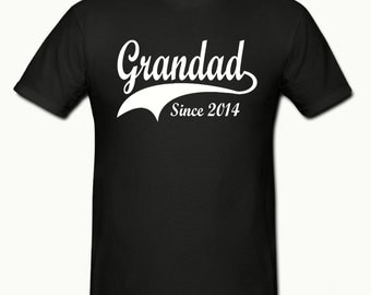 Mens Grandad since (any year) t shirt,sizes small- 2xl,fathers day gift,dad gift