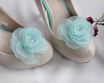 Shoe Clips, Bridal Shoe Clips, Wedding Shoe Clips, Mint Clips For Shoes, Flower Shoe Clips, Shoe Clips Accessories