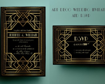 gatsby wedding invitation  etsy, invitation samples