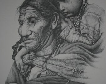 Original, Western, Native American, Indian, Art Print signed by the Artist limited edition fine art print