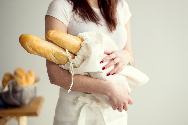 Bread Bag Linen Products Bag Linen drawstring bag
