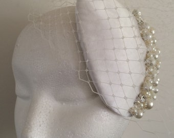 Vintage Style Bridal Headdress Fascinator Headpiece