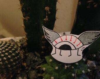 eyeball wings sticker
