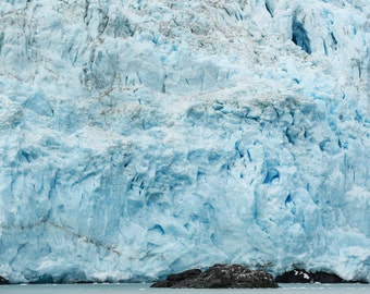 Glaciers, Alaska Glaciers, Kenai Fjord Alaska, Fine Art Photography Seascape, Ice, Colorful Glaciers, Fragile Fortress