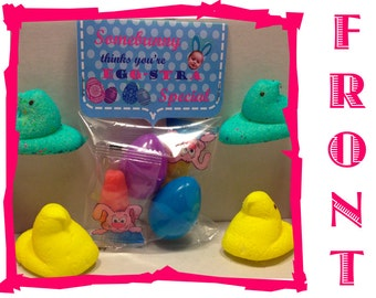 """15 Personalized Easter """"Somebunny"""" Candy Grams"""