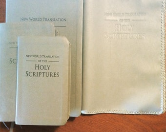 Silver Reference Bible Cover
