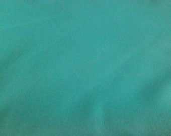 3 Yds. - Aqua Green Polyester Fabric, 3 yards total, solid color, aqua green, vintage