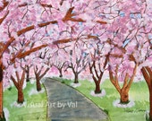Watercolor Painting 'Lost in Pink' Home Decoration Giclee Professionally Printed on Watercolor Paper