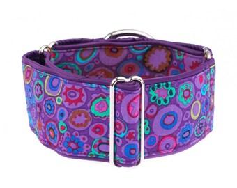 1,5 inch  martingale dog collar, 1.5 inch, greyhound collar, martingale, martingale  collar, dog collar,purple