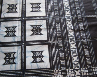 1 Yard Cut - Indigo Wax Print - Cotton fabric - Ghana Africa