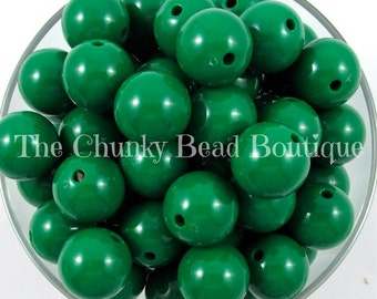 20mm green (kelly) solid acrylic bead