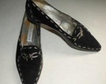 DONALD J. PLINER Leather Shoes Flats 9M Loafers Metal Pig Unique