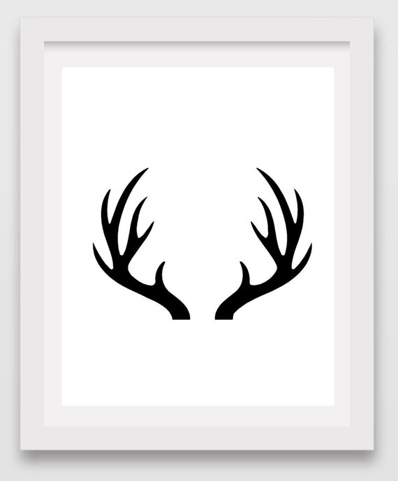 Sizzling image throughout printable deer antlers