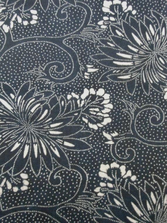 vintage Japanese indigo fabric KATAZOME