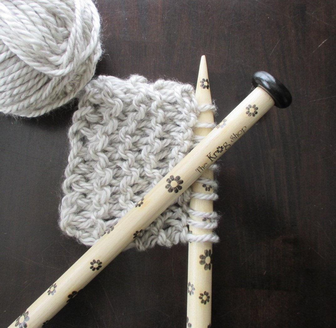 US35 Wooden Black Daisy Knitting Needles Made in by TheKrogShop