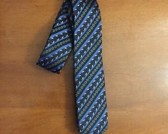 Blue Winter Skinny Tie