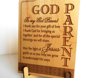 God Parents Tabletop Sign Gift, Greeting Card ,Special God Mother Plaque Gift, GodParent Appreciation Keepsake,God Parent  Postcard, God Mom