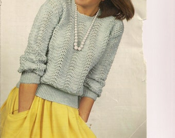 Knitted sweater jumper long sleeved womens pattern