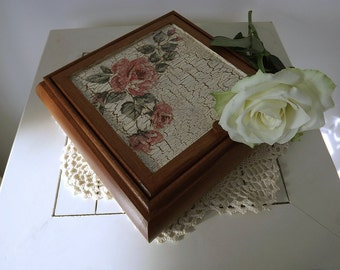 Handmade, jewelry box with mirror