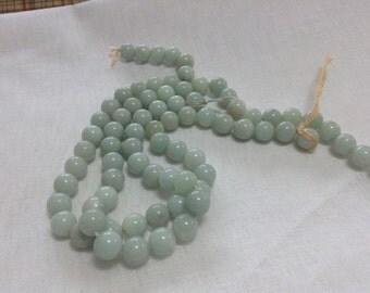 """Amazonite 7mm bead, 12"""" strand"""