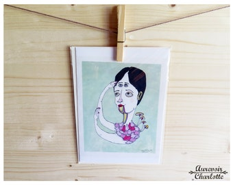 Forehead with Room 5x7 Notecard with Envelope