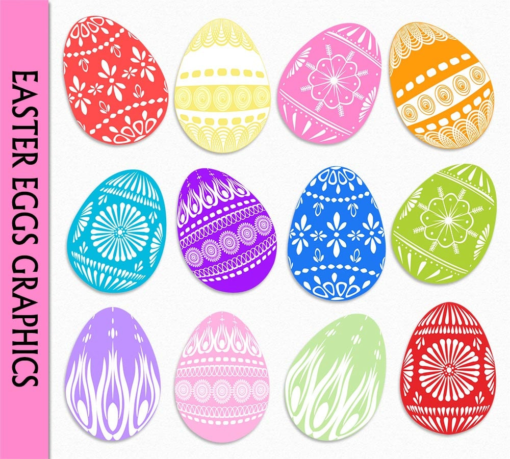 easter egg clip art graphic colorful easter eggs clipart