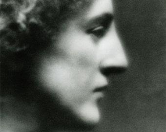 "Arnold Genthe photo, ""Profile of an American Girl, Gertrude Eddington"""
