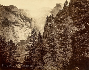Eadweard Muybridge Photo, Valley view of Half Dome, Yosemite, 1870s