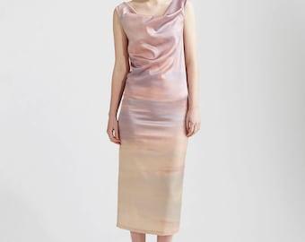 Sunset Silk Maxi Dress