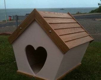 Bespoke interior/exterior animal shelter.