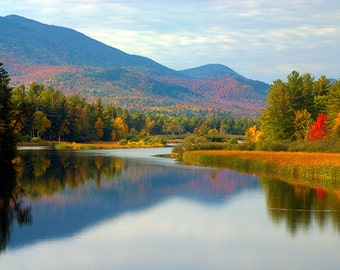 Autumn Print, Lake Placid Photo, Adirondack Mountains, Adirondack Decor, Lake Placid, Nature Photography, Art Print, Adirondack Photo