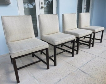 Set Of Four Side Chairs Designed By Michael Taylor Manufactured By Baker Furniture.