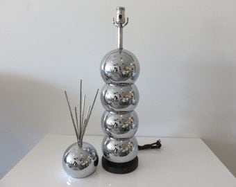 George Kovacs Mid Century Modern Chrome Lamp And Sculpture Signed Italy.