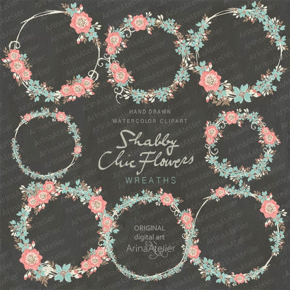 Flower Wall Decor Reversible Mosaic With Chalkboard: Shabby Chic Flowers WREATHS