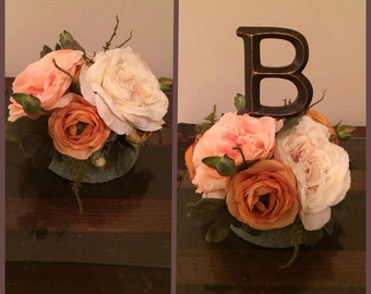 Rustic Flower wedding cake topper