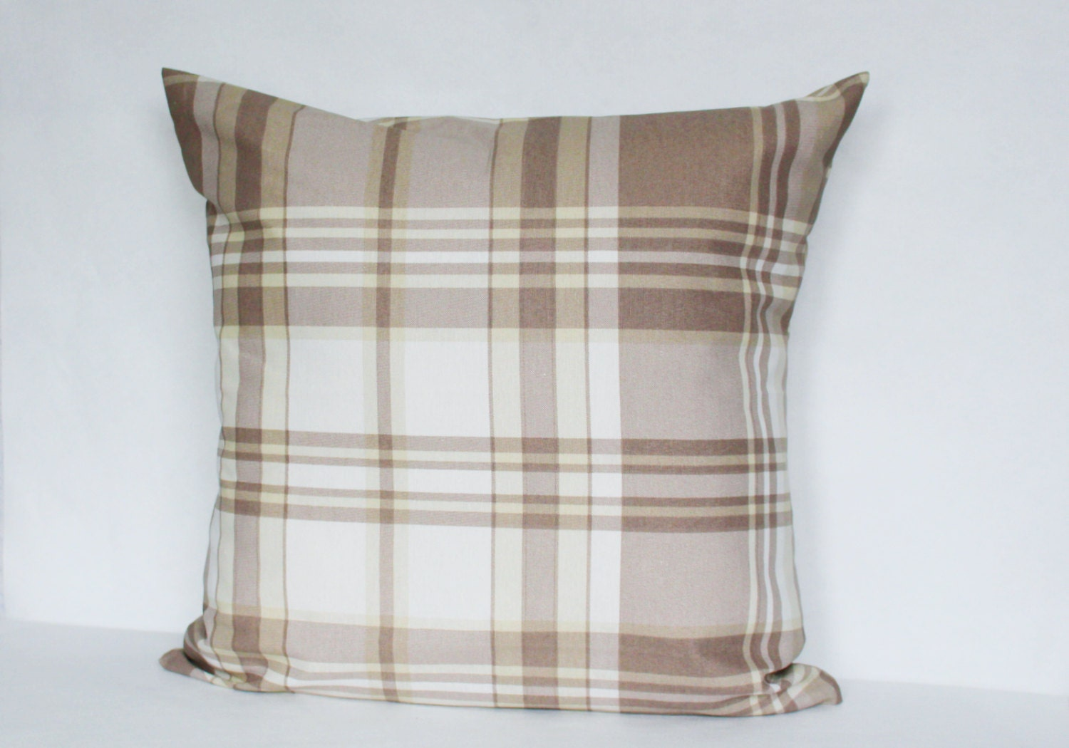 Plaid Pillow Cover Throw Pillow 16x16 inch Decorative