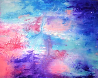 Pink Sea Abstract Painting