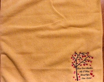 Microfiber Cleaning Cloth with Verse Embroidered